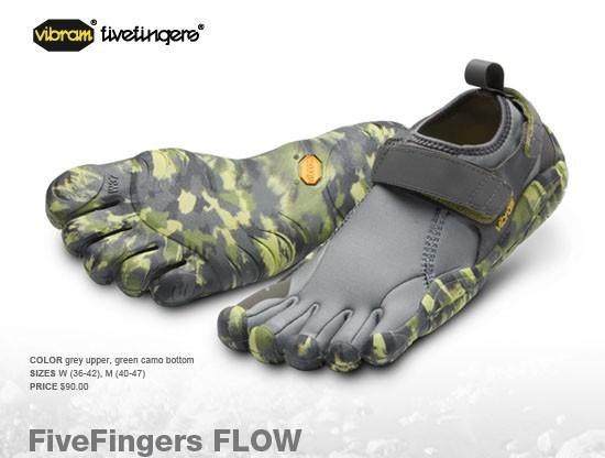 Vibram FiveFingers Flow in Grey Camo