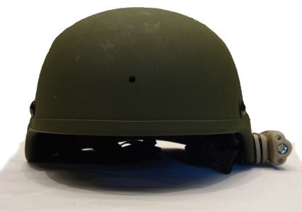Energizer® Hard Case® Tactical™ Helmet Light mounted on helmet