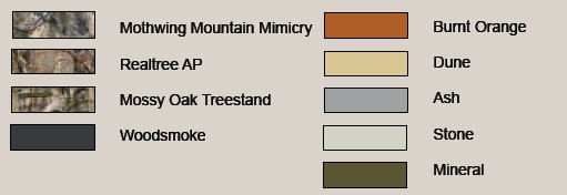 Sitka Gear Color Chart