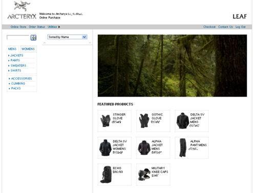 New Arc'teryx LEAF Online Store