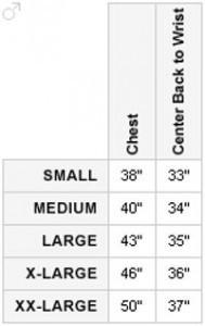 Arc'teryx Size Chart