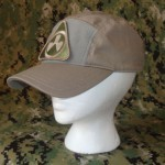 'One size fits all' adjustable ballcap with four hook-and-loop fields for attaching patches- a large 2.75 x 5″ one up front, a small 1 x 1.5″ on top, a 1.5 x 5″ on the rear, and a smaller .75 x 2.25″ on the adjustment strap.