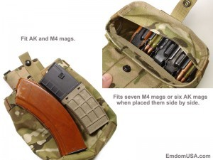 Dump Pouch accommodates M4 as well as AK mags