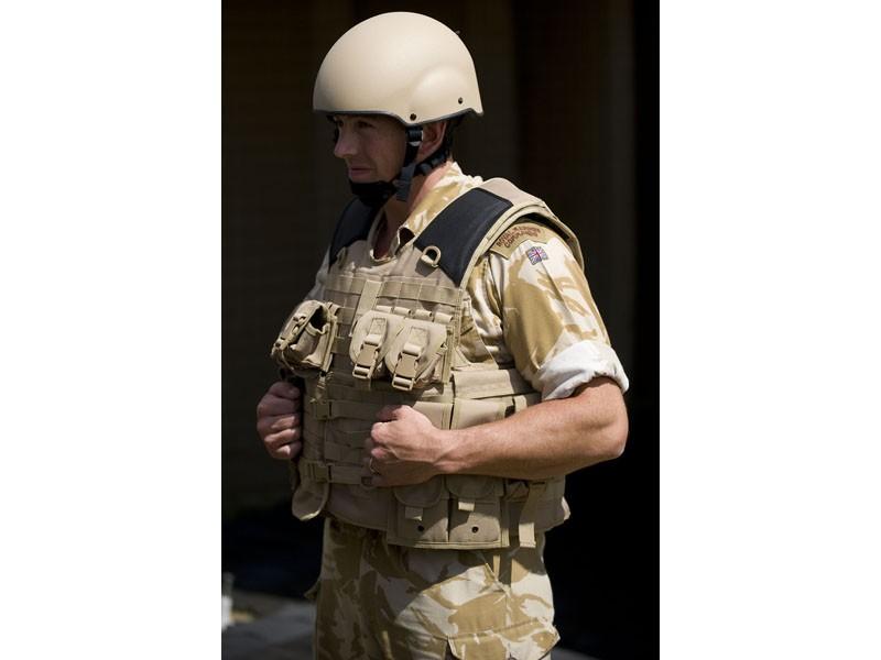 UK enhanced Mark 7 helmet and Osprey Assault body armour