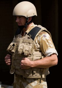 UK enhanced Mark 7 helmet and Osprey Assault body armour