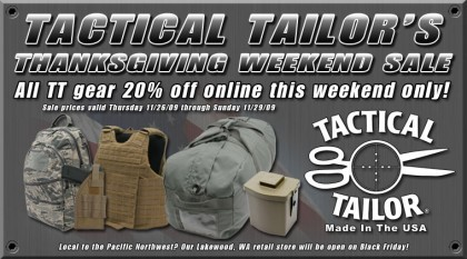 Tactical Tailor Thanksgiving Day Sale
