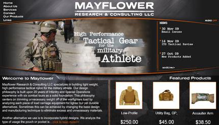 Mayflower's New Homepage