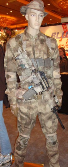 Blue Force Gear shows off the A-TACS pattern.