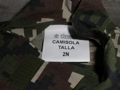 New Spanish Army woodland digital uniform - tag