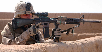 Holy Schnookies!  A Marine Using a PMAG.  How Can This Be? - Photo Lance Corporal Tommy Bellegarde USMC