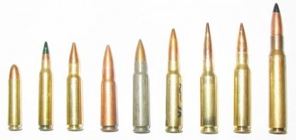 Examples of military calibers.  Photo by Gary Roberts