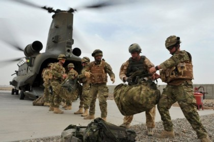 Royal Marines from 40 Commando kitted out in MTP
