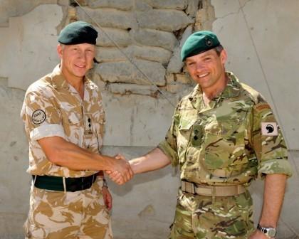 Royal Marine officers in Afghanistan