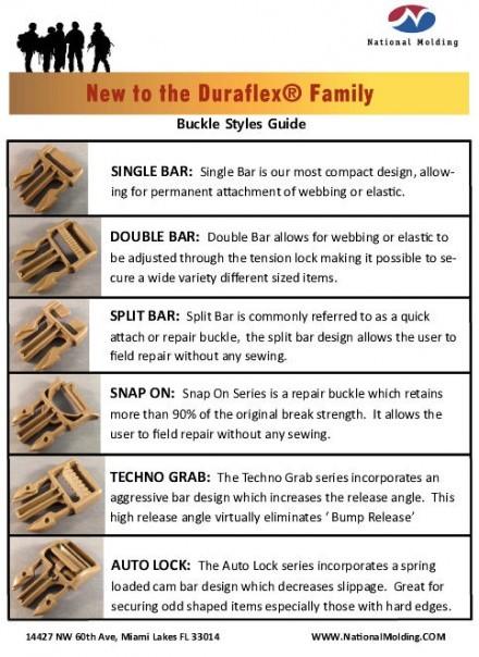 Duraflex Buckle Styles
