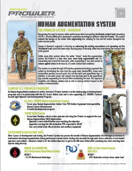 Prowler Augmentation System
