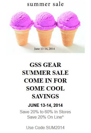 GSS Summer Sale
