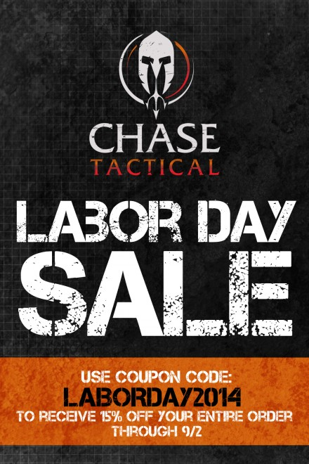 Chase Tactical Labor Day Sale