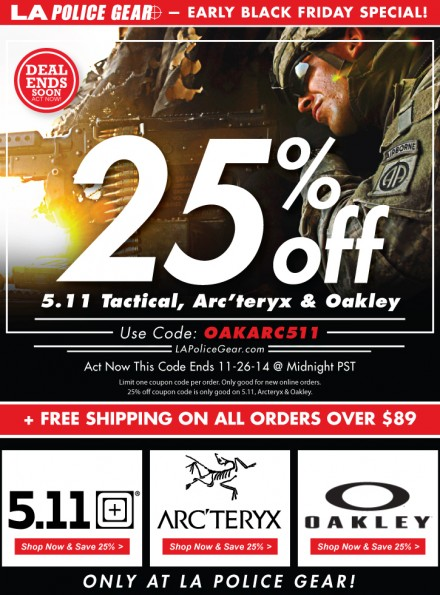 Soldier-Systems-Pre-Black-Friday-25-Percent-Off-511-Arcteryx-Oakley-AD
