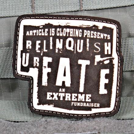 Relinquish U R Fate Charity Patch