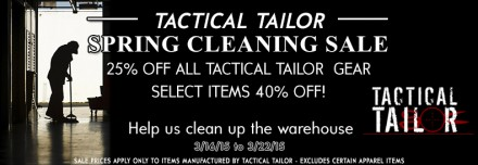 Tactical Tailor Spring Cleaning