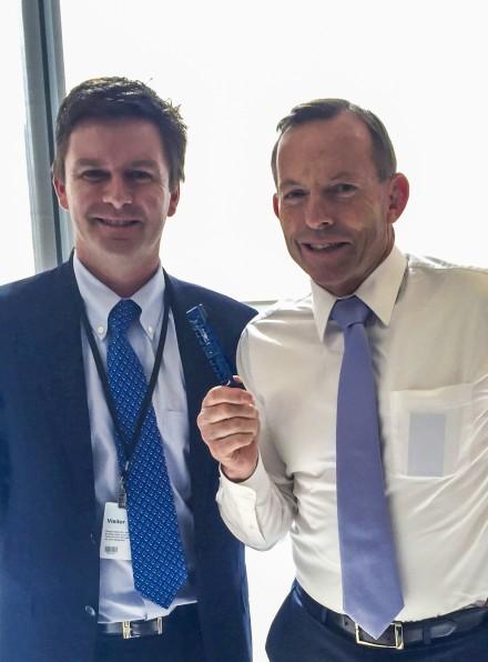 PM Tony Abbott and GB