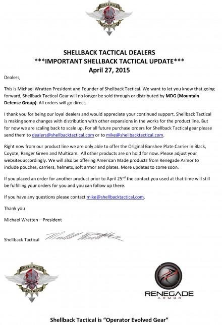 Microsoft Word - Shellback Tactical - Press Release - Dealer Cha