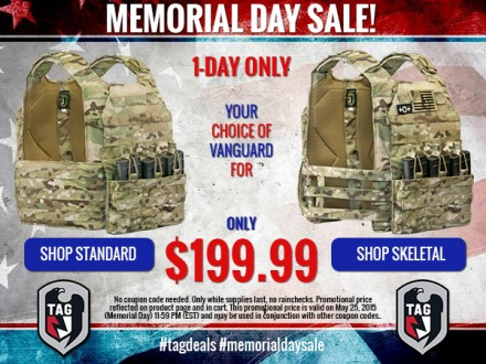 TAG Memorial Day Sale