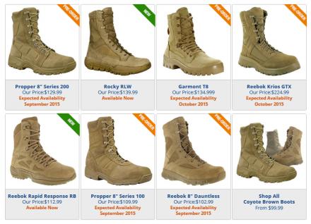 TacticalGear CB boots