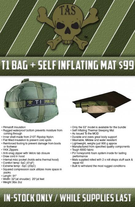 TAS T1 + Self Inflating Mat Sale