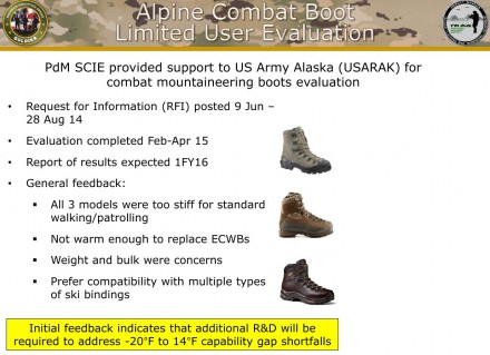 US Army Operational Footwear - Mountaineering Boot