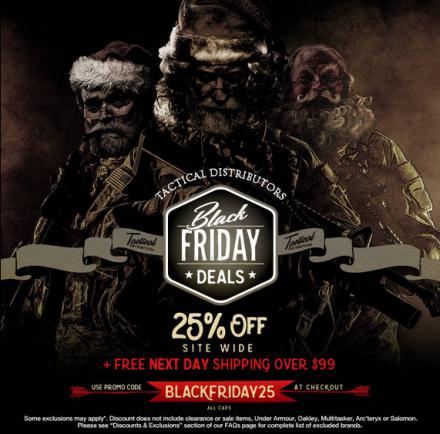 Tactical Distributors Black Friday 2015