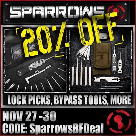 sparrows black Friday