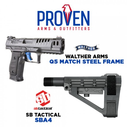 Proven-Arms-and-Outfitters-SB-Tactical-SBA4 & Walther Q5 Match