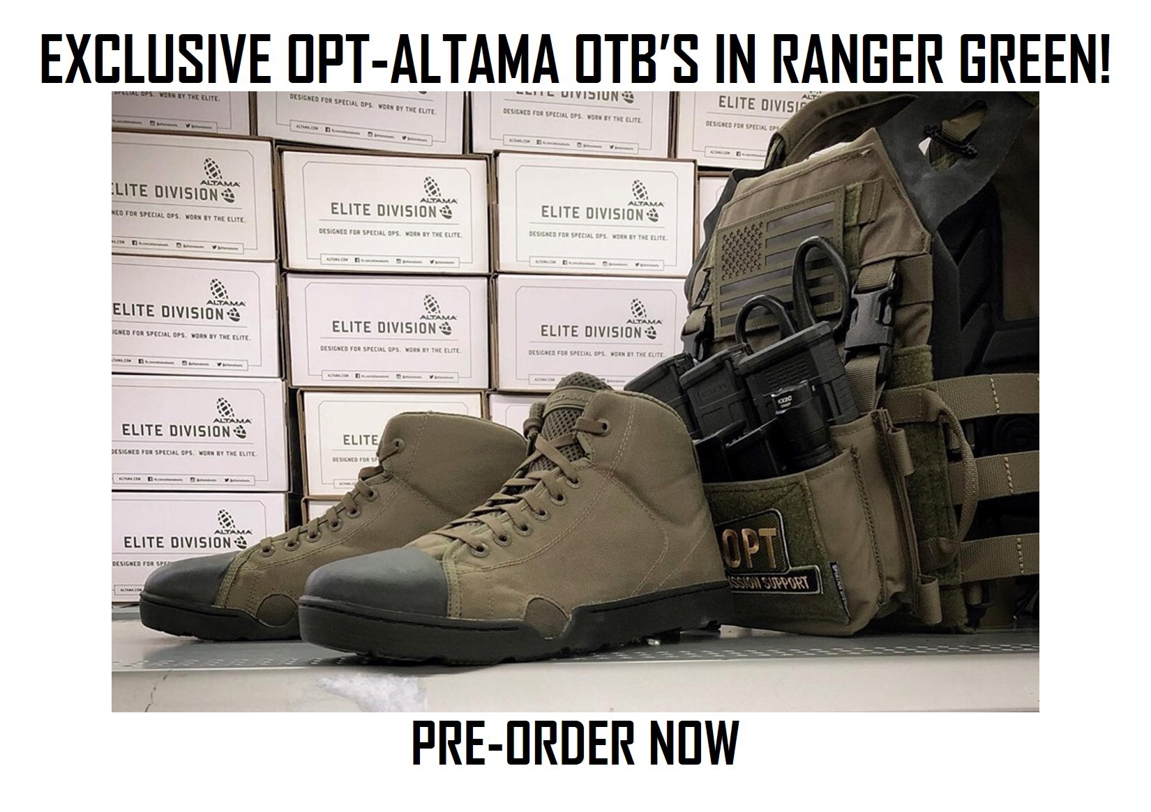 Exclusive OPT-Altama OTB Boots in