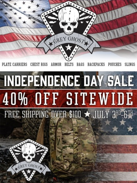 Grey Ghost Gear Independence Day Sale