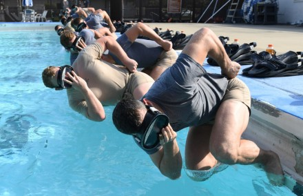 Special Warfare trainees honor fallen combat controller