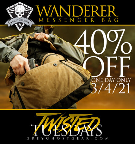 Grey Ghost Gear Wanderer Messenger Bag on sale today only!